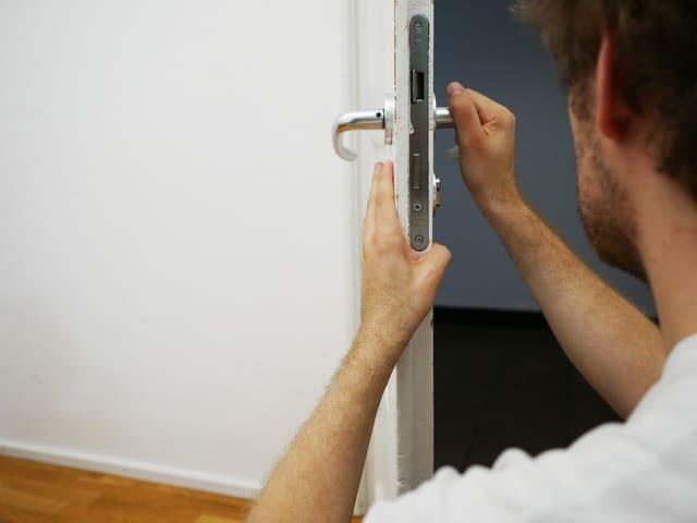 Sicherheitszylinder in der Türe
