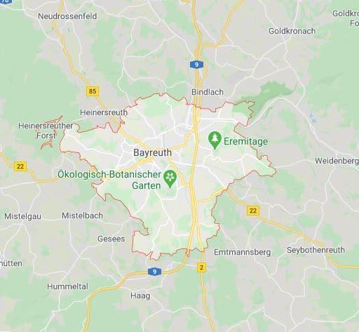 Einsatzgebiet Bayreuth